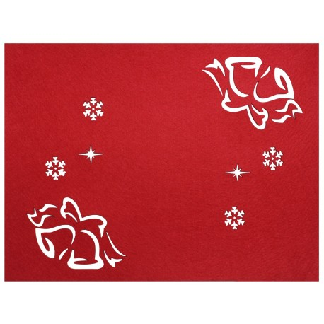 Podkładka filcowa DZWONEK,40x30 cm, kol.czerwony
