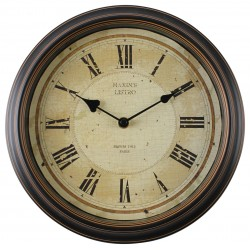 zegar ścienny CLARIDGE, średn. 29,5cm,kol.brąz-MC