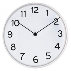 zegar ścienny DEER, średn.25X4,5cm, kol.BIAŁY-MC