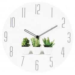 zegar ścienny PLANT, średn.30cm, kol.BIAŁY-MC
