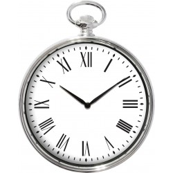 zegar śc. RELIC kol.chromow srebro, 38,4x30x5cm-MC