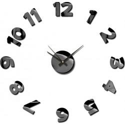 Zegar naklejany STICKER BLINK,śr.75cm,czarny-MC,A