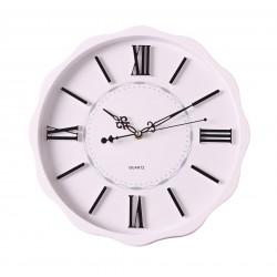 zegar ścienny TARTA kol. biały, średn. 35 cm-MC