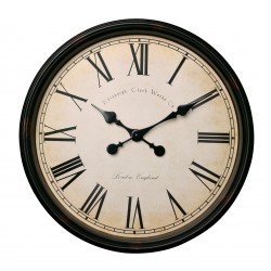 Zegar ścienny VINTAGE, śr. 50 cm, kol. brąz-kre-MC