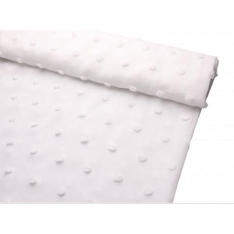 Tkanina z aplikacją UNIQUE 300 cm kolor biały