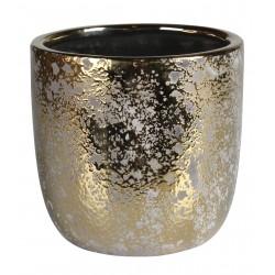 Osłonka GULD ceramiczna,11x11x10cm,ZŁOTA