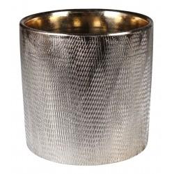 Osłonka HUGO ceramiczna,13,5x13,5x13cm,ZŁOTA