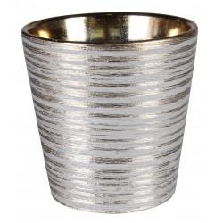 Osłonka LARS ceramiczna,12,5x12,5x11,5cm,ZŁOTA