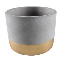 Osłonka ENAR cement,18x18x16,5cm,SZARY+ZŁ PASEK