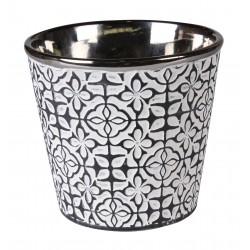 Osłonka PELLE ceramiczna,13x13x12,5cm,ANTRACYT