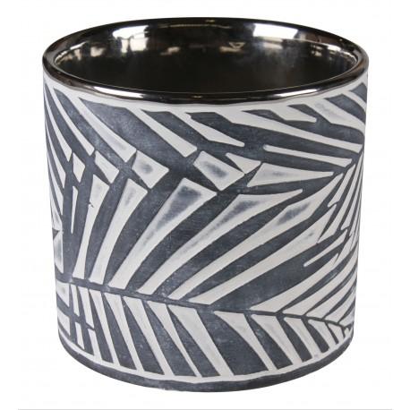 Osłonka SOREN ceramiczna,12,5x12,5x12cm,ANTRACYT