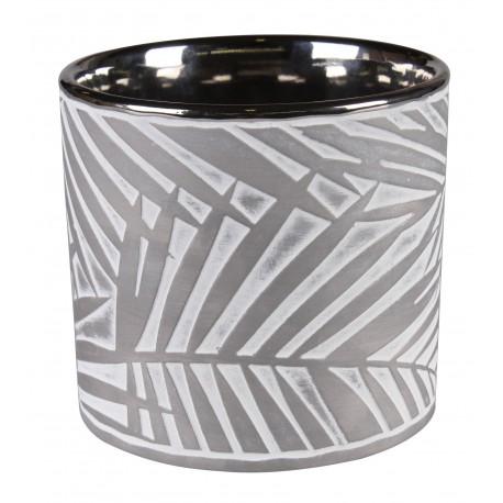 Osłonka SOREN ceramiczna,12,5x12,5x12cm,SZARA