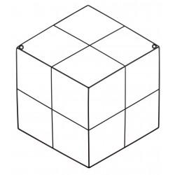 Kratka na zdjęcia RUBI, 45,5x52cm metal,kol.czarny