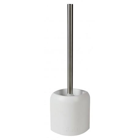 Szczotka do WC AVANGARDA, 12x10x37 cm, kol. biały