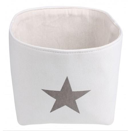 Koszyk ELVIS, 23x23x20 cm, kol. biały