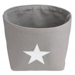 Koszyk ELVIS, 23x23x20 cm, kol. szary
