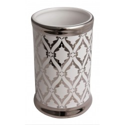 Kubek GLAZE, 7x7x10,5 cm, kol. srebrny