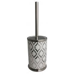 Szczotka do WC GLAZE, 10,5x10,5x39 cm, kol. srebrn