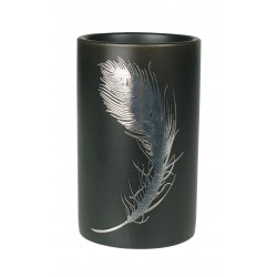 Kubek PIUME, 7x7x11,5 cm, kol. czarny