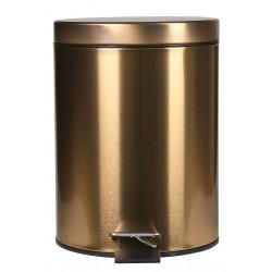 Kosz na śmieci SHEEN, 5L, 20x20x28cm,kol.złoty