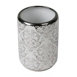 Kubek VENEZIA, 8X8X11 cm, kol. srebrny