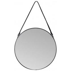 Lustro wiszące PERITO, śr.40 cm, kol. czarny