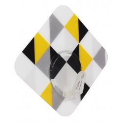 Wieszak pojedynczy TRIANGLE 6x6x2,5cm, czarno-żół