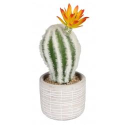 Sztuczny kwiat w doniczce KAKTUS-18cm