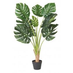 Sztuczny kwiat w doniczce MONSTERA-90cm-zielony