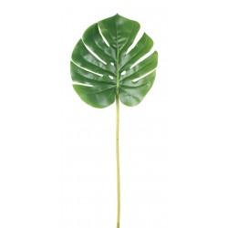 Sztuczny liść MONSTERA - 51 cm - zielony