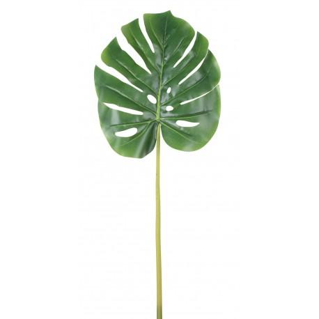 Sztuczny liść MONSTERA - 72 cm - zielony