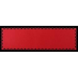 Bieżnik ,filc STARLET,30x100cm-kol.czerwony